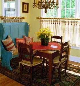 Dining room set designed by Park Avenue Fabrics Interior Design in Augusta GA